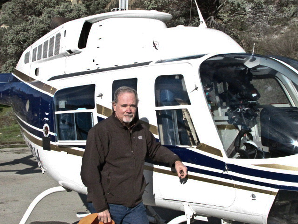 Bill flies helicopters in the pursuit of answers to investigation.