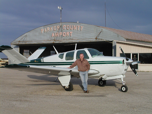 Bill Lawrence and his classic 1957 V-tail Bonanza